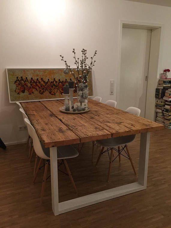 tisch aus ger stbohlen home ideen. Black Bedroom Furniture Sets. Home Design Ideas