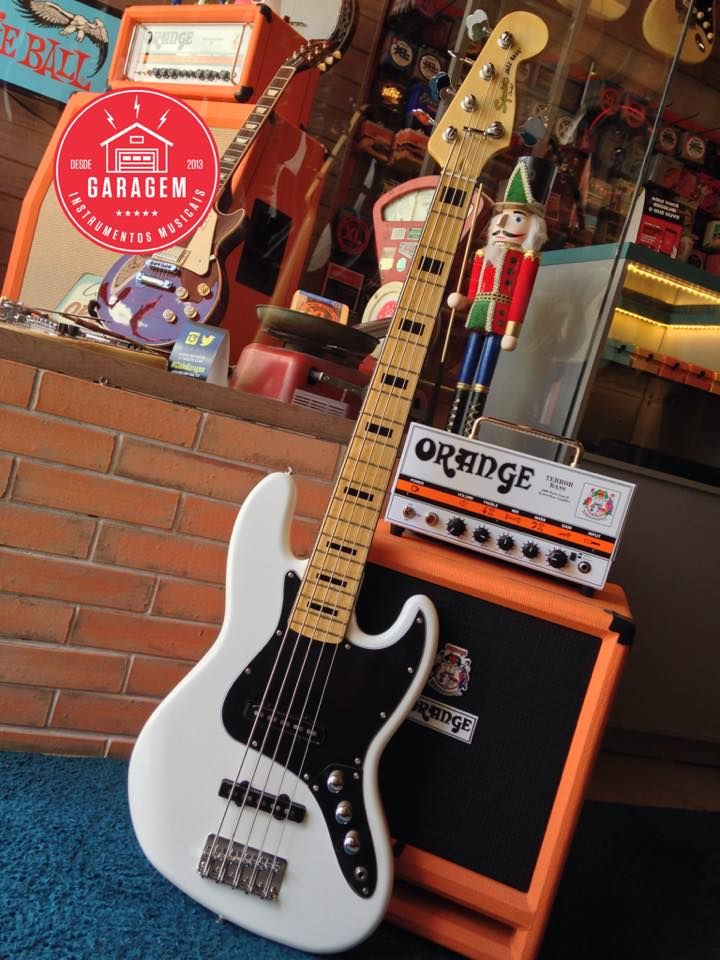 Squier Vintage Modified Jazz Bass V Olympic White Bass Guitar Guitar Squier