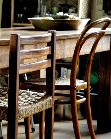 mismatched vintage chairs would be absolutely perfect.. if only our table wasn't so terribly tall!
