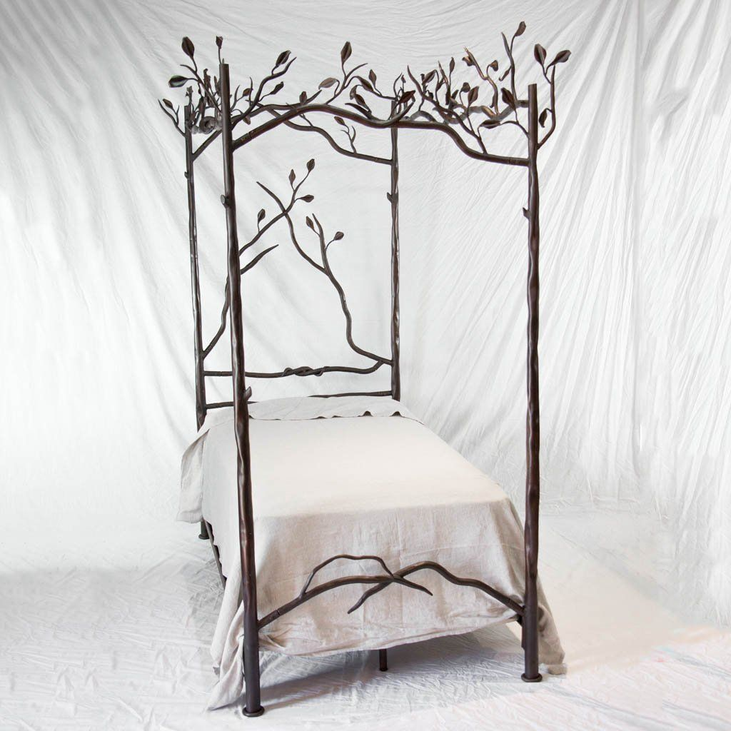 Bed, Canopy, Copper Top Table