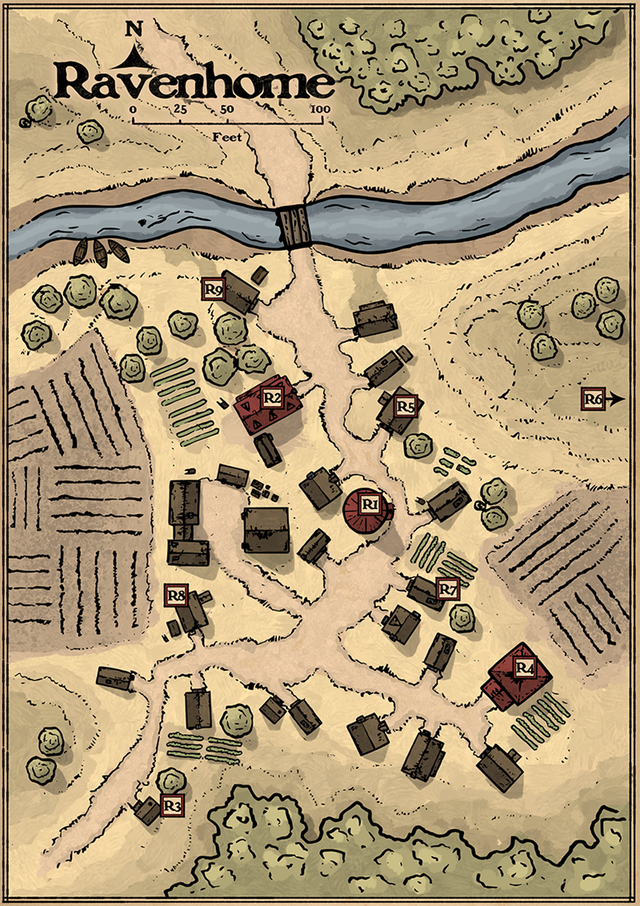 DnD: Roll for Initiative! | D&D Village and Town Maps in ... - photo#36