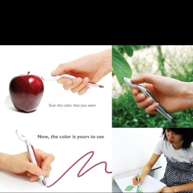 A scan pen to any color and the pen writes that color