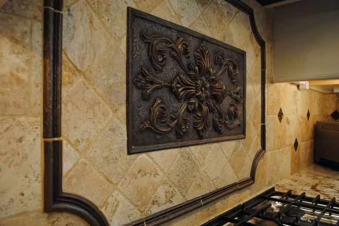 Old World Tile And Stone Backsplash Traditional Kitchen By Sterling Bath