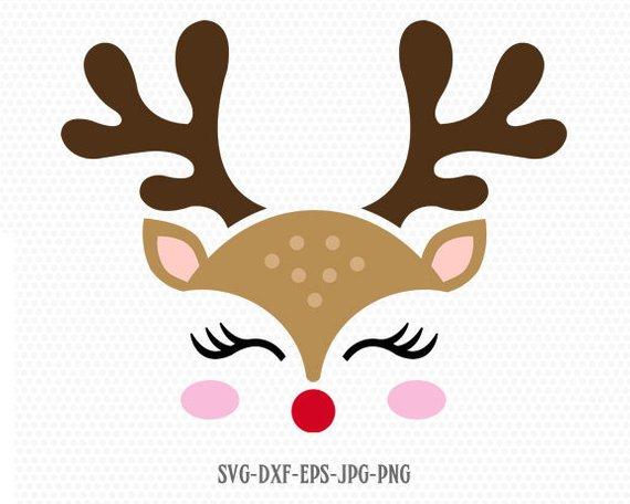 Cute Reindeer SVG, Reindeer Face, Rudolf svg, Christmas svg, Girl Reindeer ,Christmas Cutting Files, #reindeerchristmas Cute Reindeer SVG, Reindeer Face, Rudolf svg, Christmas svg, Girl Reindeer ,Christmas Cutting Files, #reindeerchristmas