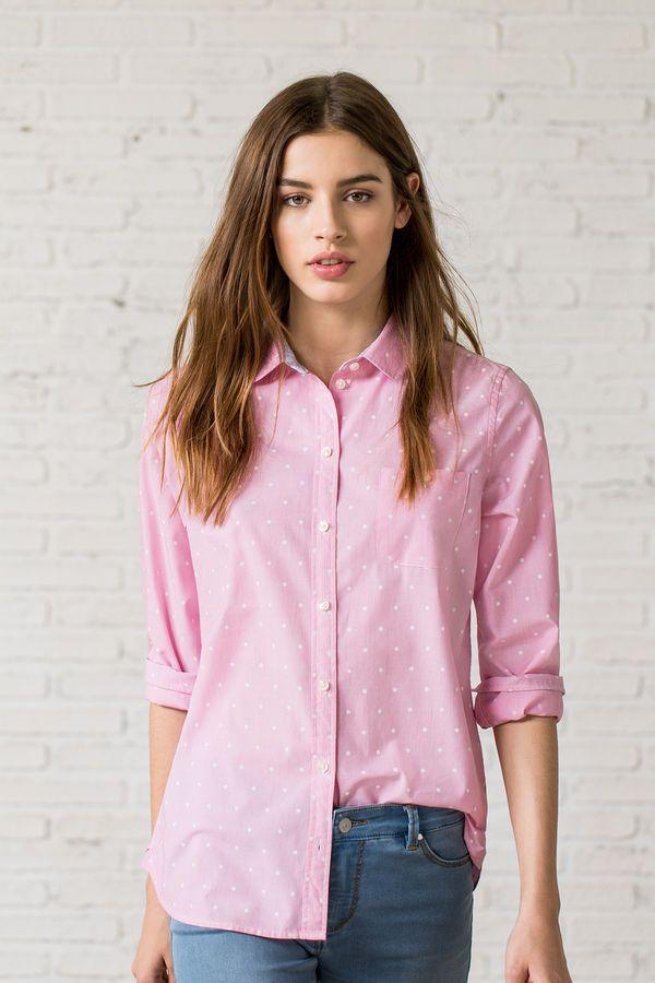 35fb854ba901 CAMISA ROSA TOPITOS, rojo, hi-res | look rosa en 2019 | Camisas ...