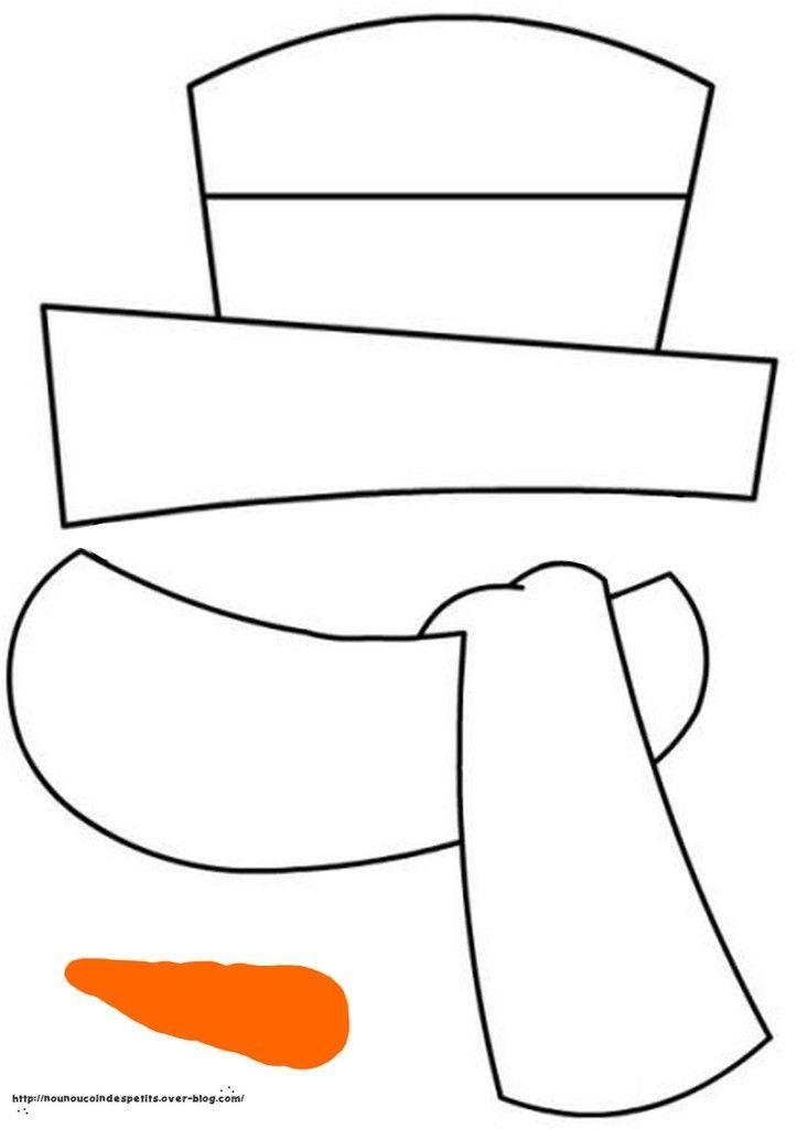 .. Snowman (cardboard plate)