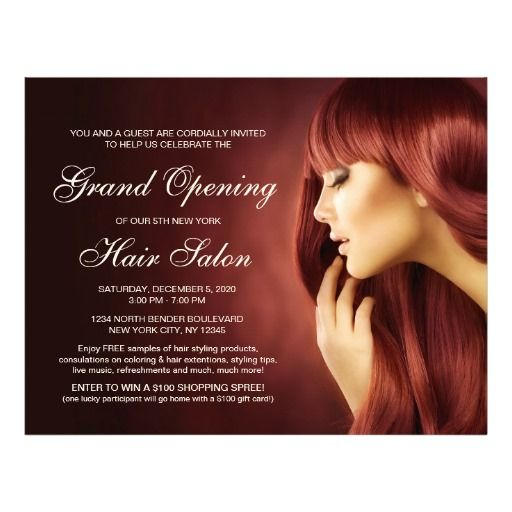 Hair Salon Grand Opening Flyer Templates   Salon Grand Opening