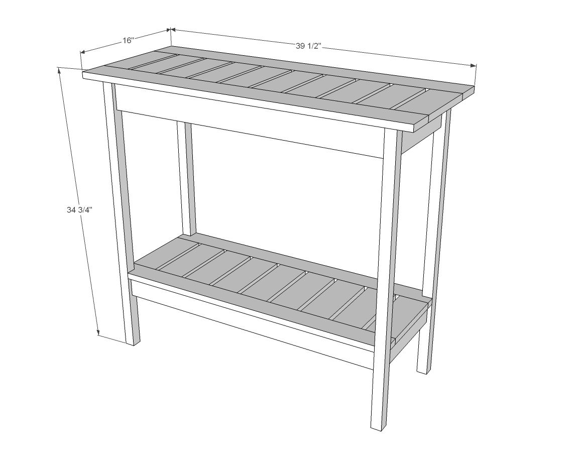 Ana white build a stair baluster outdoor console table for Wood balusters for tables