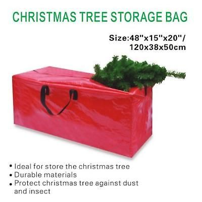 Plastic Christmas Tree Storage Box Amusing Large Christmas Tree Storage Bag Clean Up Holiday Artificial Trees Design Decoration