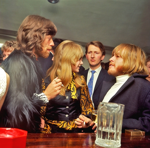 Mick Jagger, Marianne Faithfull and Brian Jones ...