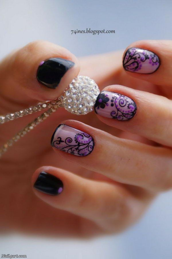 66 Elegant Lace Nail Art Designs 2018 - nail4art   Idei de încercat ...
