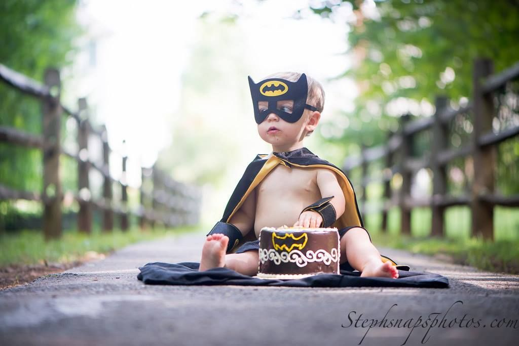 Handmade Batman Cake Smash Outfit First Birthday