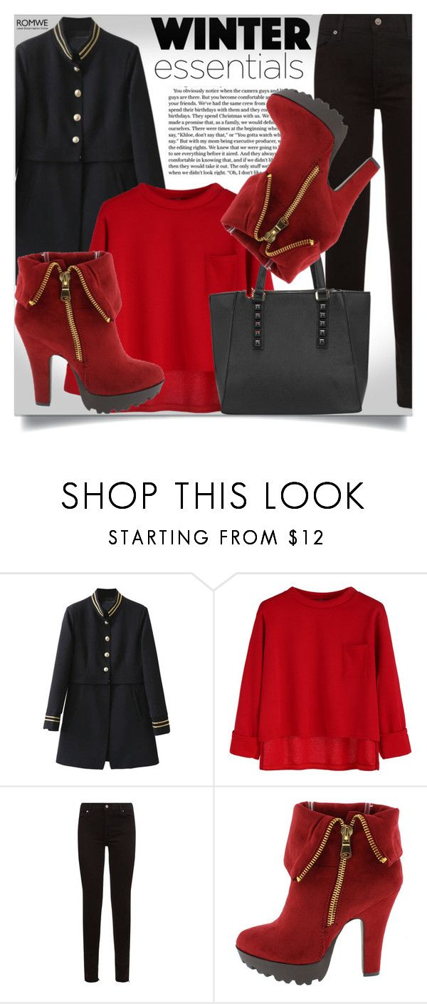 """""""Romwe #7"""" by almedina-86 ❤ liked on Polyvore featuring 7 For All Mankind and romwe"""