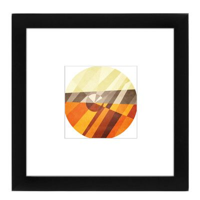 East Urban Home Earth Framed Graphic Art Size: