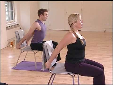Stronger Seniors Chair Yoga Standing Sequence Exercise For Fibromyalgia Youtube Chair Yoga Yoga For Seniors Chair Pose Yoga