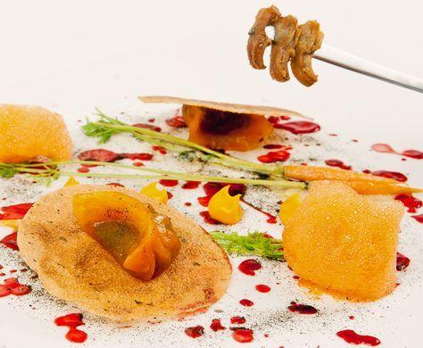 Posticker Shanghai De Pato Zanahoria Y Kétchup De Tomatillo De árbol De David Muñoz Receta Chef Gastronomia Zanahoria Diverxo