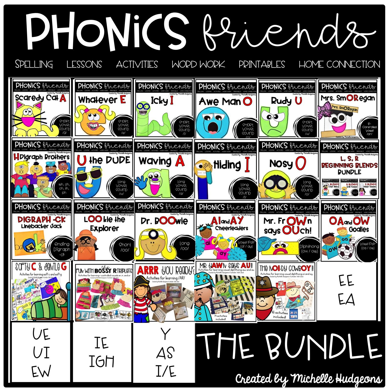 Phonics Activities Phonics Friends Bundle In