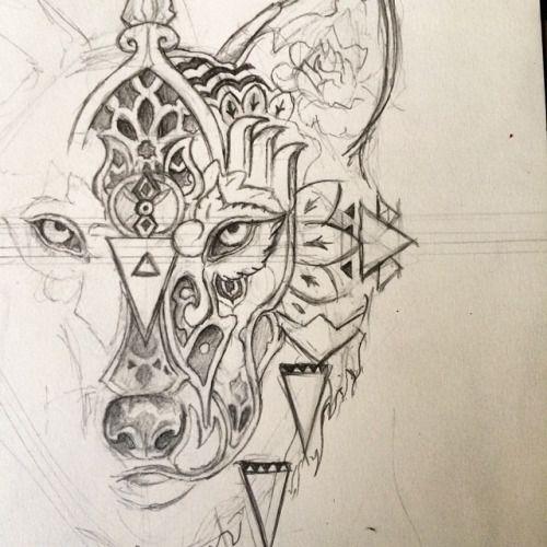 Mandala tattoo recherche google dessin pinterest images tatouages et id es de tatouages - Tatouage loup mandala ...