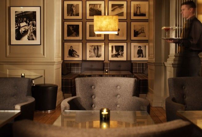 Photo wall display idea - display behind a sofa or above a hall table