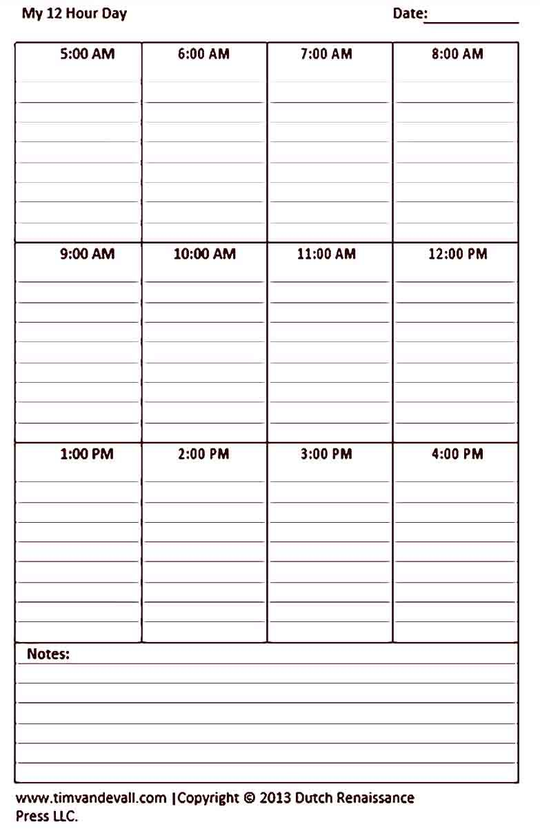 12 Hour Shift Schedule Template Printable Daily Schedule Template Cleaning Schedule Templates Schedule Template 12 hour shift schedule template