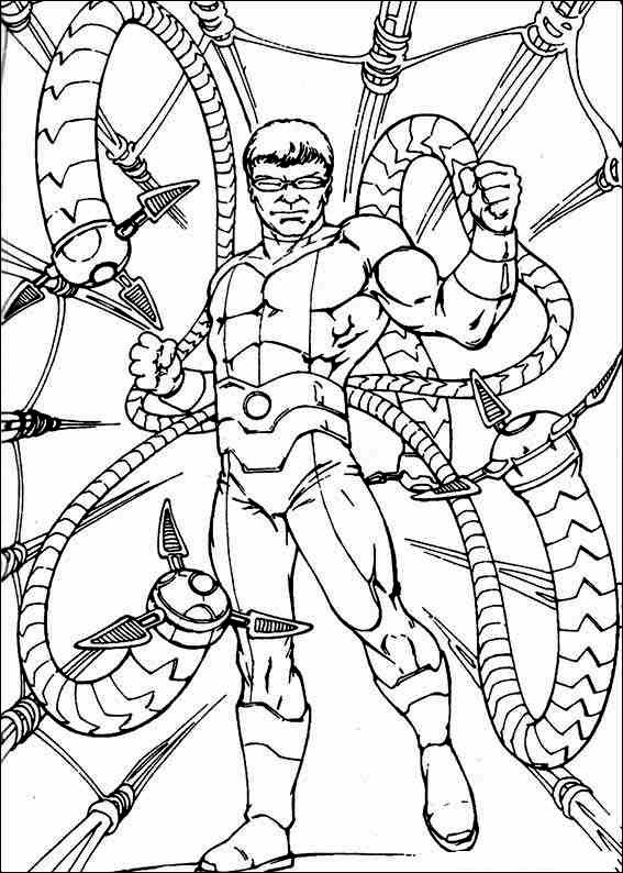 Amazing Spider Man Coloring Pages Spiderman Coloring Octopus Coloring Page Octopus Colors