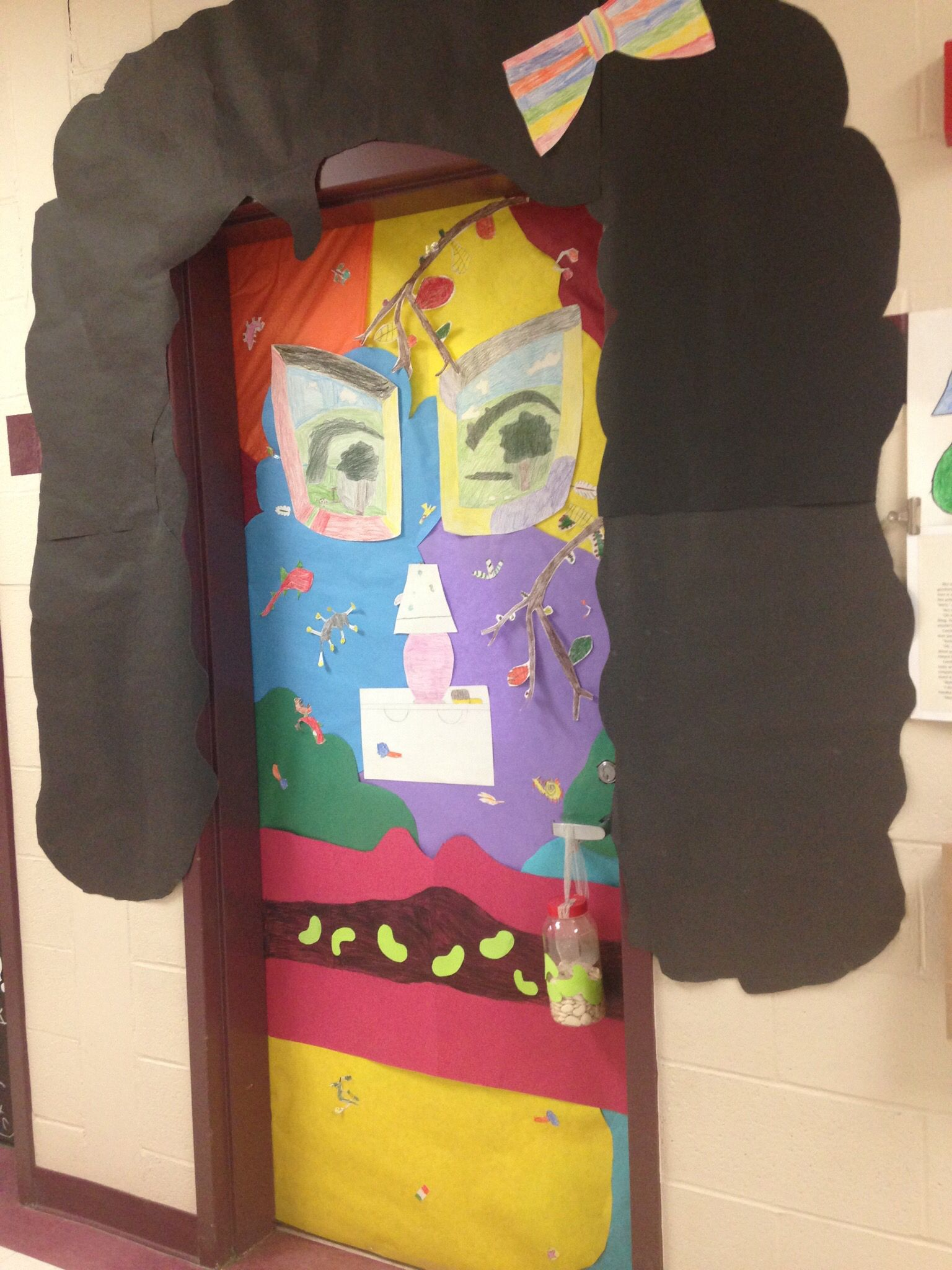 A Bad Case Of Stripes Door Decorating By 4th Graders