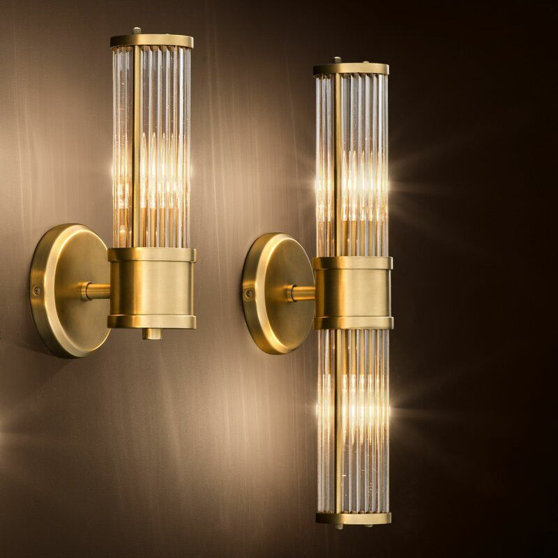 Claridges 1 Light Armed Sconce In 2020 Wall Lamp Glass Wall Lights Sconces