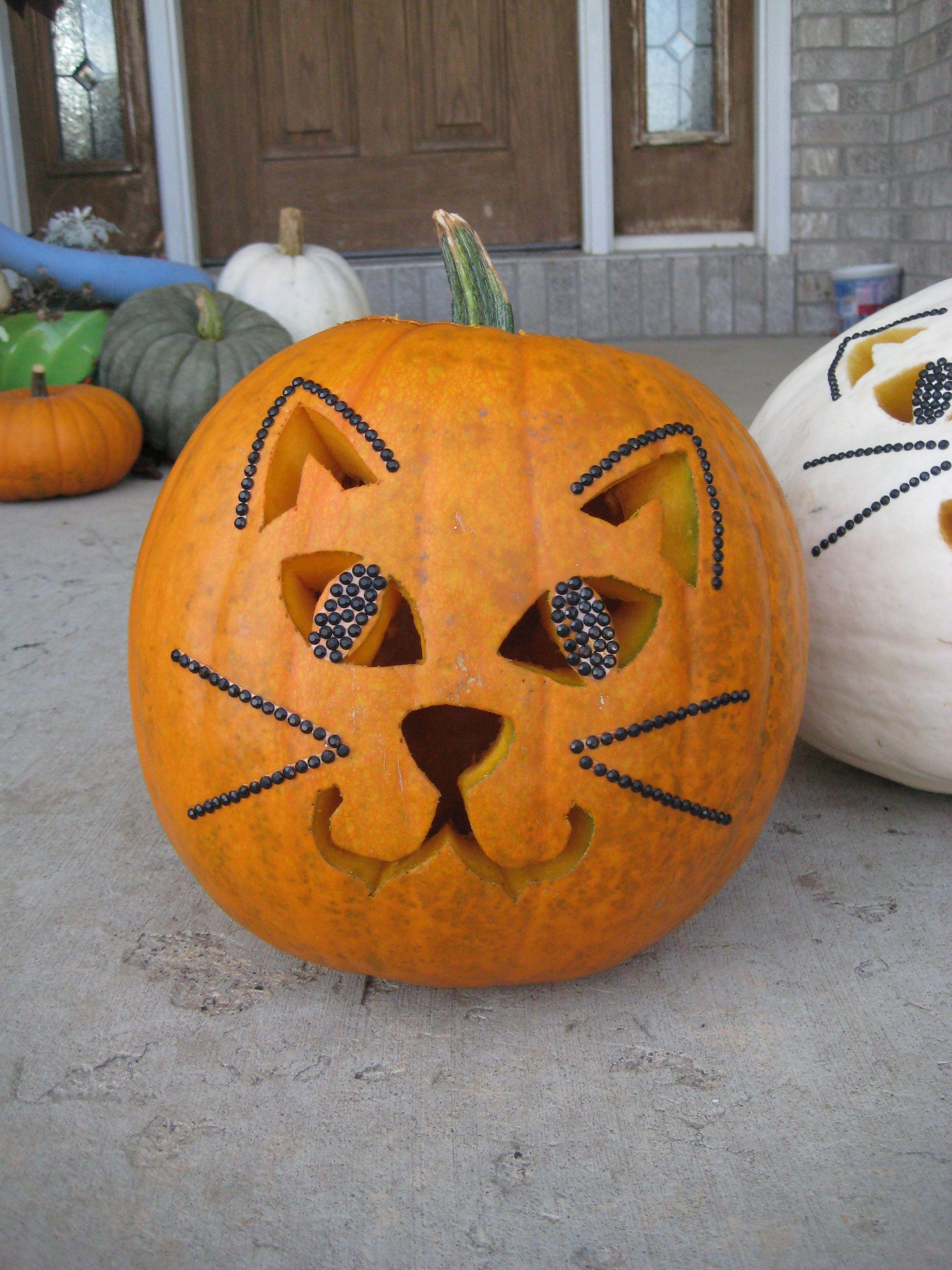 Halloween: dynia-kot!! Miauuuu :)