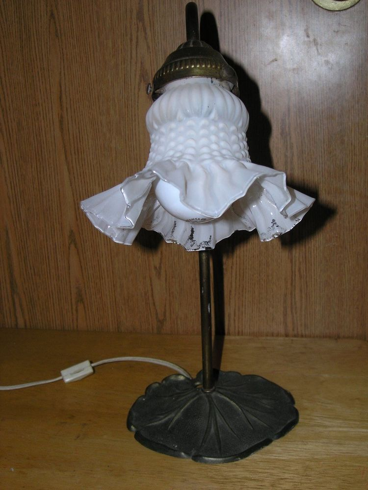 Goose Neck Desk Lamp Light Lily Pad Base Frosted Tulip Shade – Tulip Desk Lamp