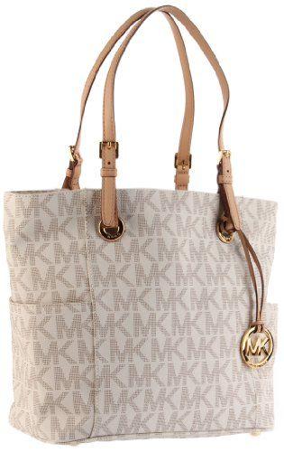 7ea36107d Michael Kors Signature PVC Hamilton Traveler Crossbody Bag Vanilla ...
