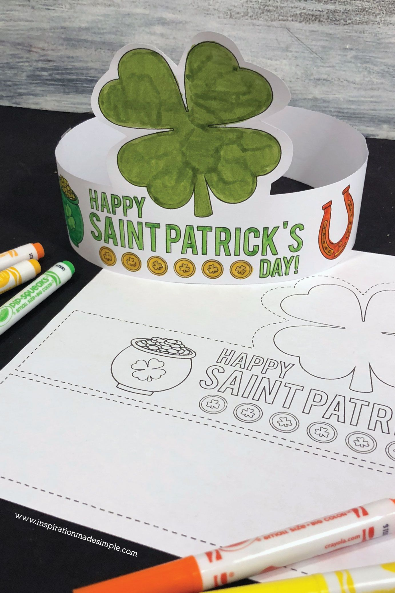 DIY Printable St. Patrick's Day Crown for Kids