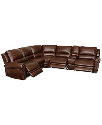 Strange Langston Leather 6 Piece Power Motion Sectional Sofa With 2 Unemploymentrelief Wooden Chair Designs For Living Room Unemploymentrelieforg