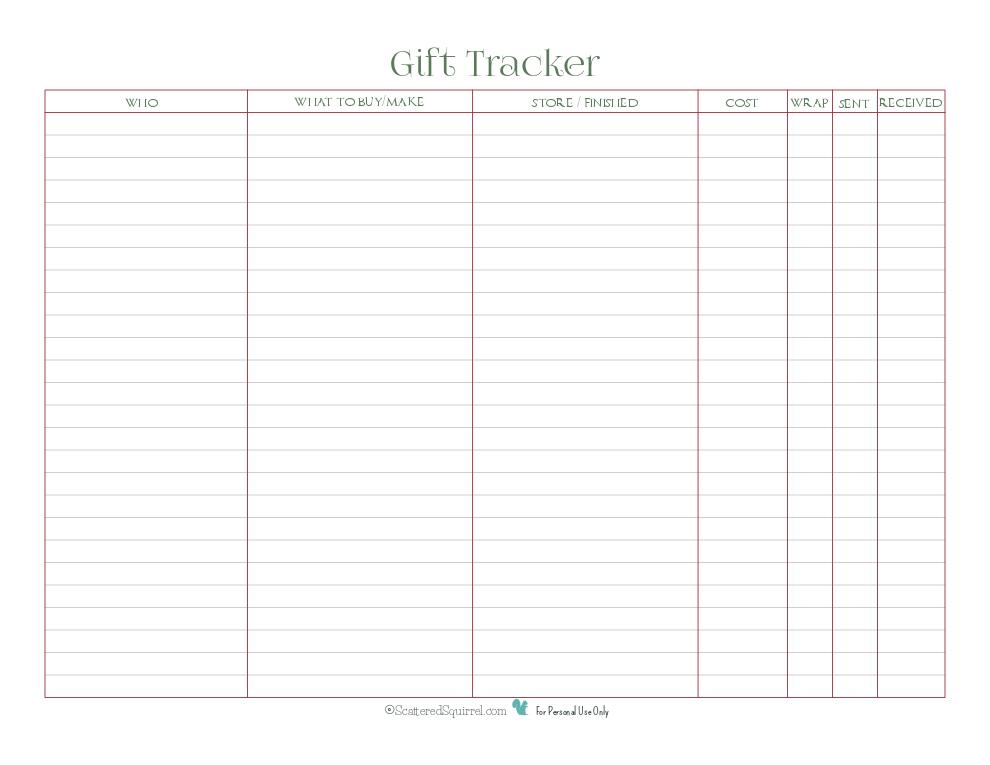 gift tracker