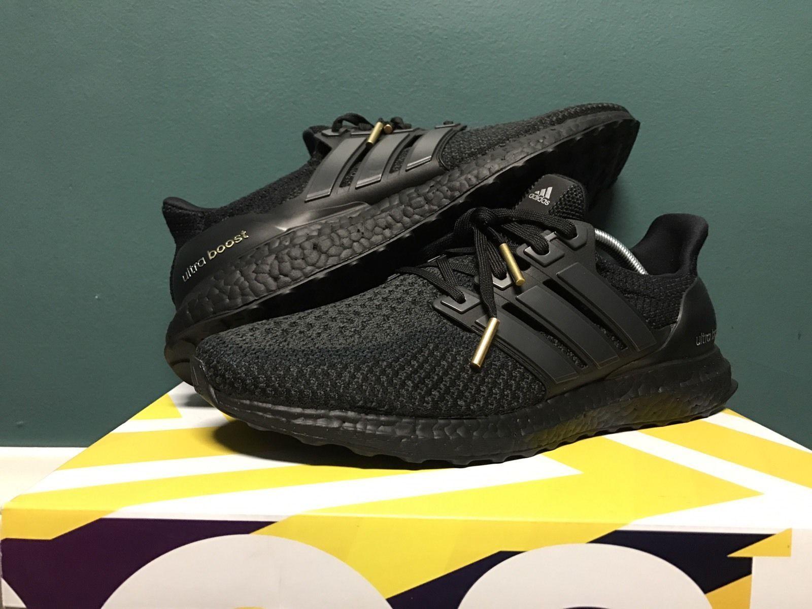 Adidas Ultra Boost Triple Black Size 10.5 Yeezy NMD