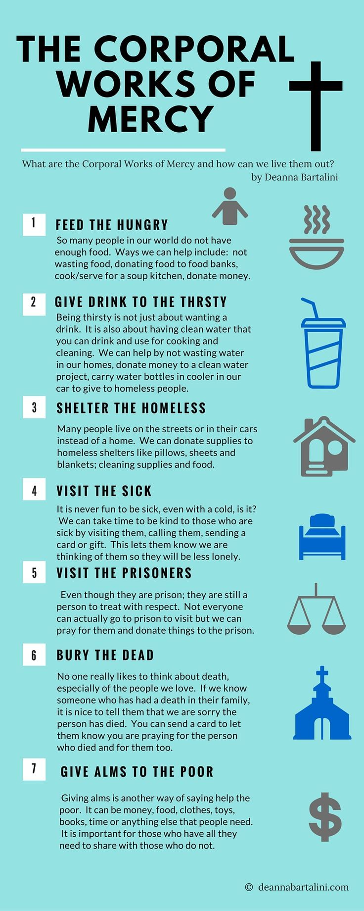The Corporal Works of mercy   Catholic   Pinterest   Religion, Bible ...