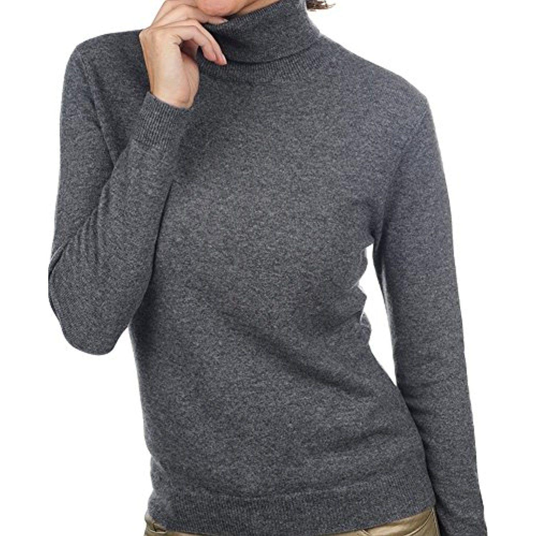 Balldiri 100/% Cashmere Kaschmir Damen Pullover 2-f/ädig V-Ausschnitt Anthrazit Meliert XXL Grey