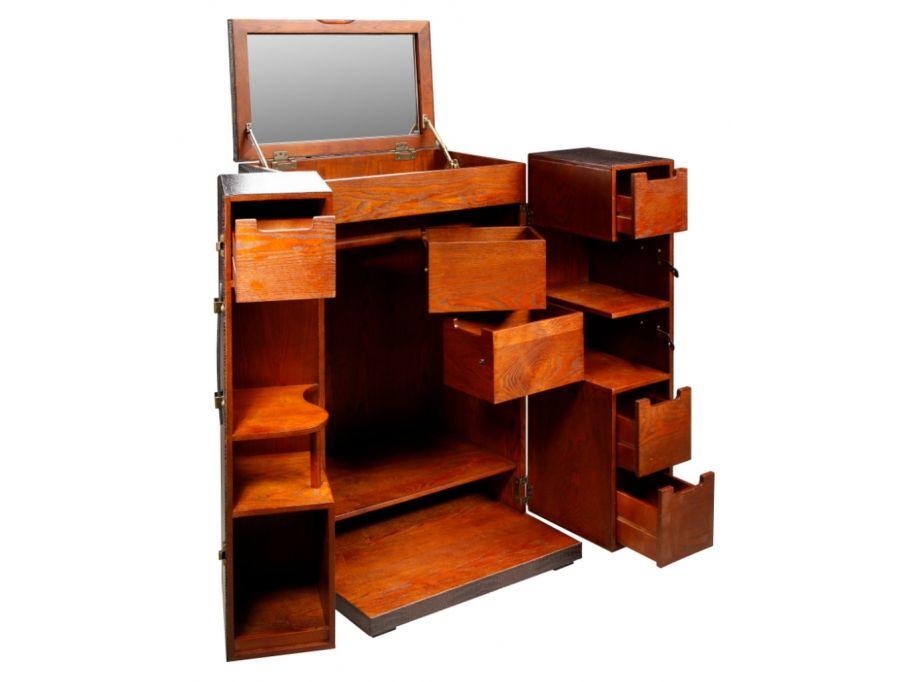 Koffer-Schrank Holz Kolonial Loric günstig kaufen I Möbel Online ...