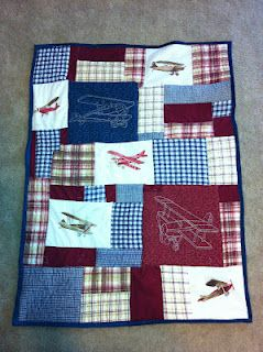 Baby Airplane Quilt using a Euro sham | Been There Done That Got ... : airplane quilts - Adamdwight.com