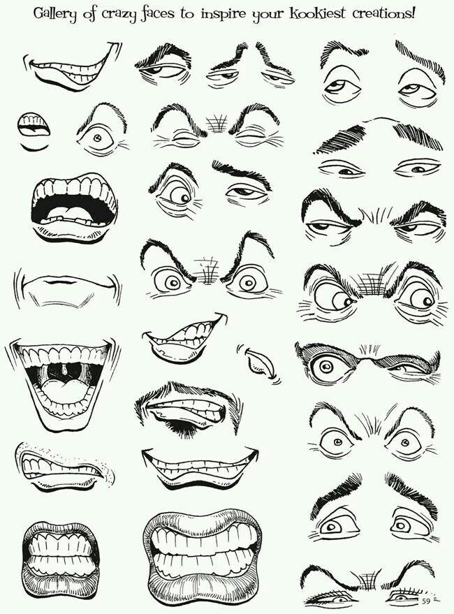 Images Of Crazy Faces Cartoon Drawings Drawings Cartoon Faces