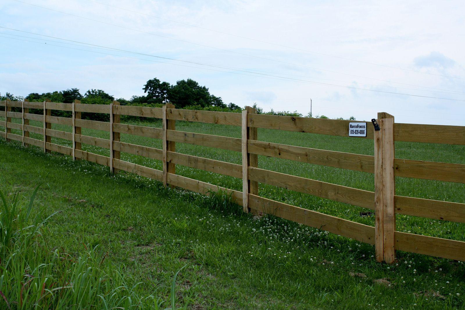 4 Board Plank Farm Fence Wood Farm Fence Wood Fence