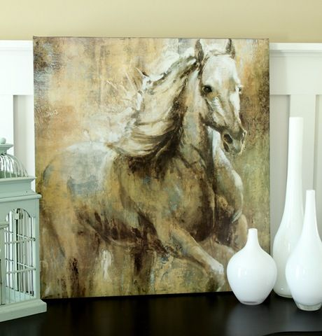 Art Wall Home Decor Fire Horse Abstract Oil Painting Picture Printed on canvas