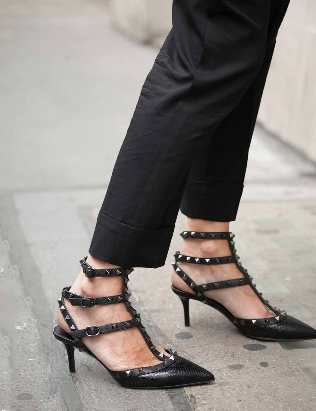 16532bb41c9 Black noir.  valentino  heels  streetstyle.  realrealscore