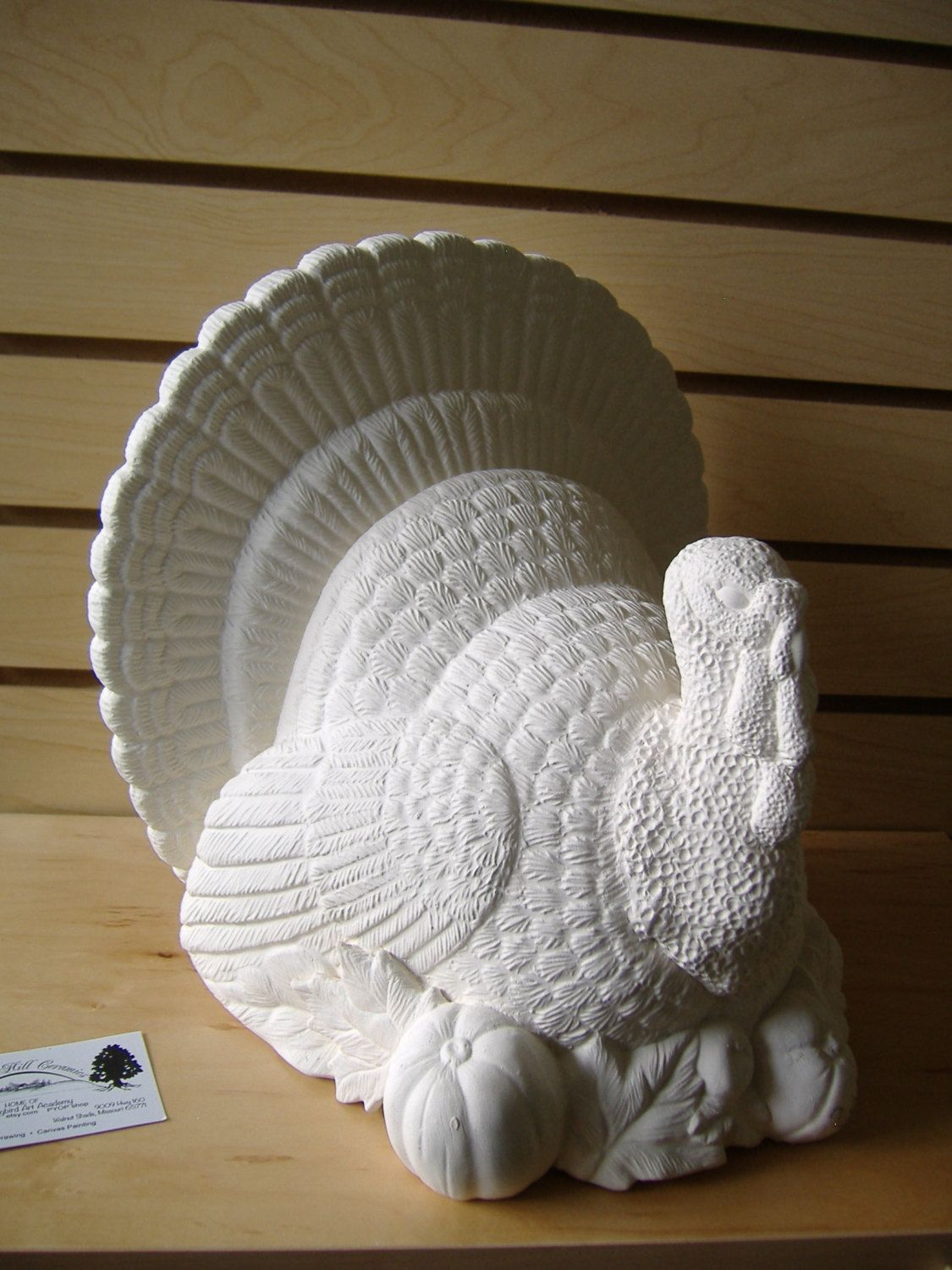 e6637d5dfe6fc Turkey Center Piece BIG Table Top Thanksgiving Turkey UNPAINTED ...