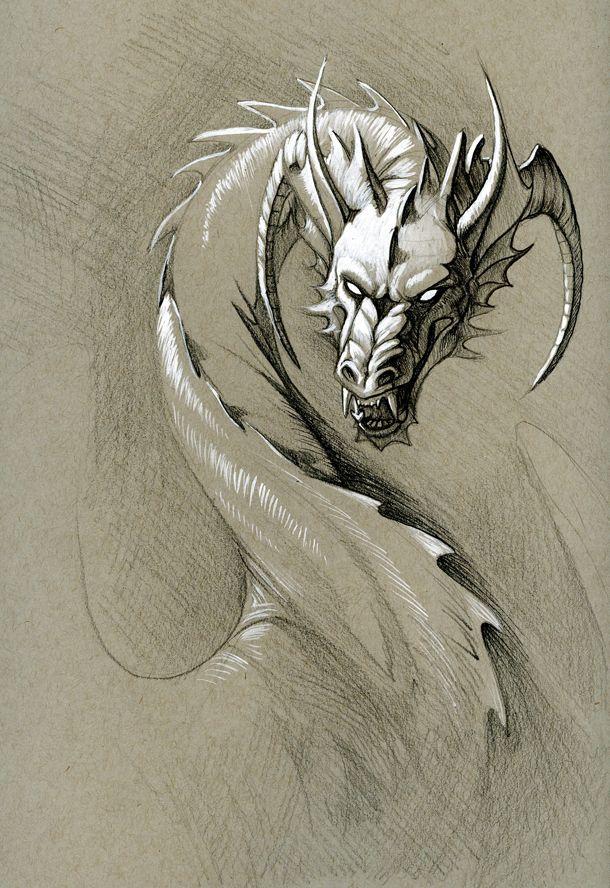 greyscale dragon by hibbary on deviantART | Dragons ...