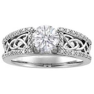celtic knot diamond engagement ring - Celtic Knot Wedding Rings