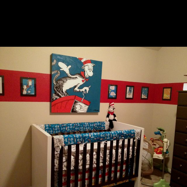 Perfect Dr Seuss Nursery...Love The Red Stripe
