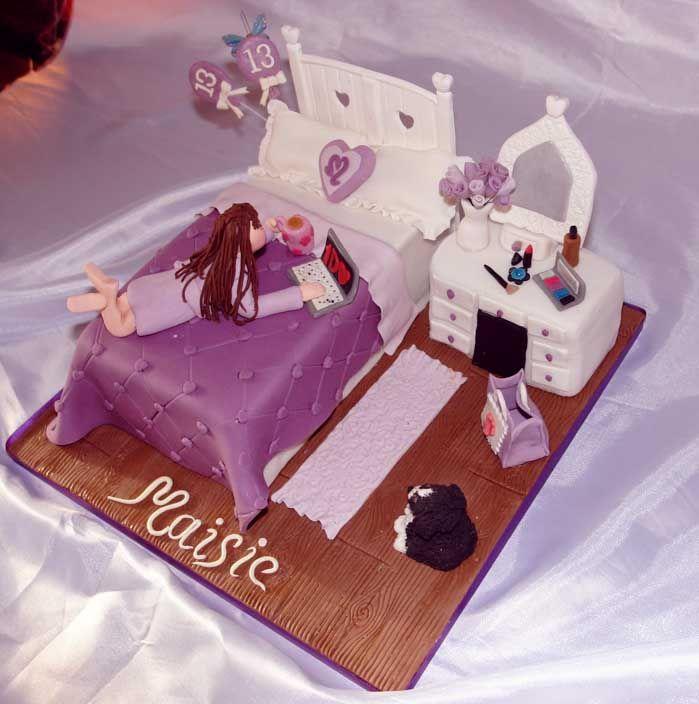 teenager bedroom cake