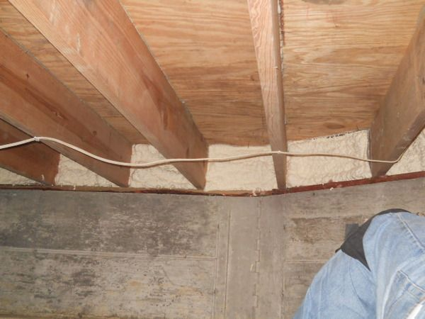 Air Sealing The Rim Joists In A Crawl Space Perez Robert