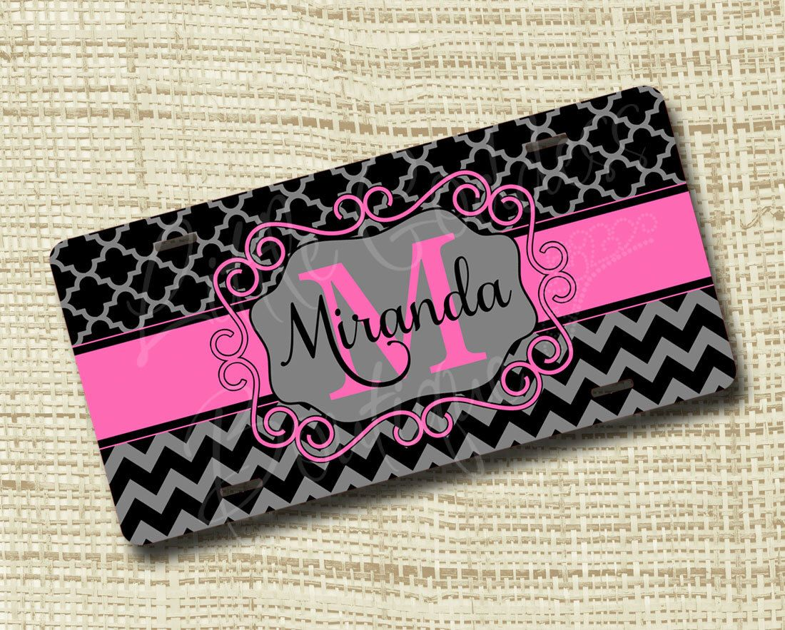 Monogram License Plate, License Plate Frame, Personalized