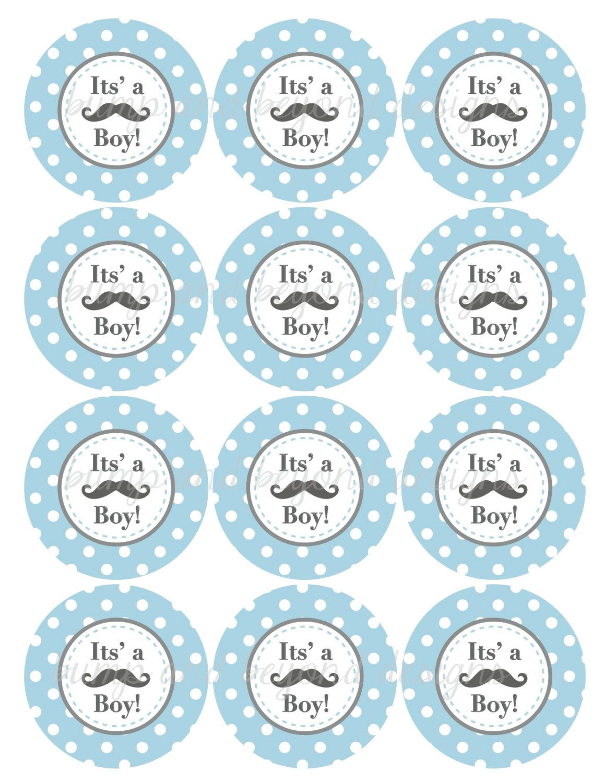 Little Man Mustache Baby Shower Free Printables